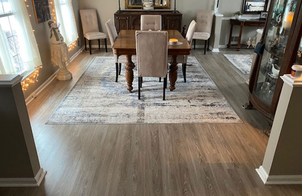 Southwind Timeless plank luxury vinyl plank flooring in color Timeless installation in Raytown, Mo.