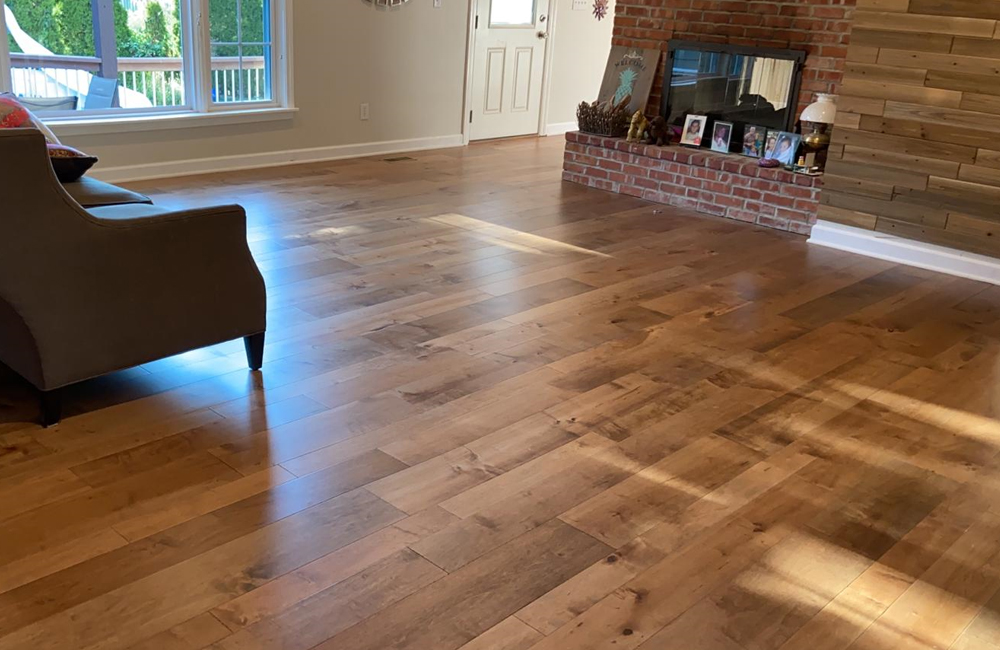 Saltbox Maple engineered hardwood flooring in color Concord installed for one of our clients in Leawood KS