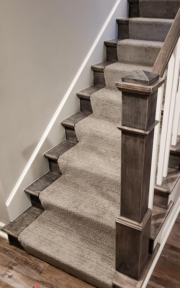 Del Rio Slate carpet tone on tone custom stair runner