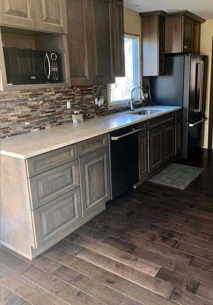 Kitchen flooring update project for a happy customer of Big Bob's Overland Park, KS