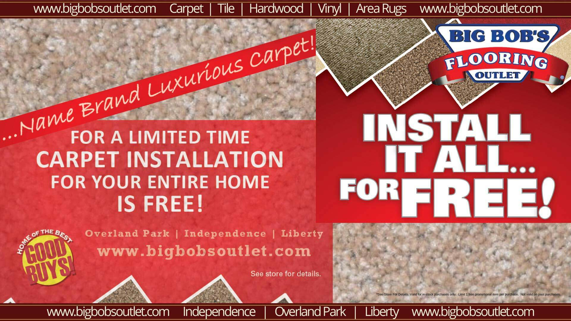 Big bob s carpet outlet wichita ks floor matttroy for Big bob s carpet